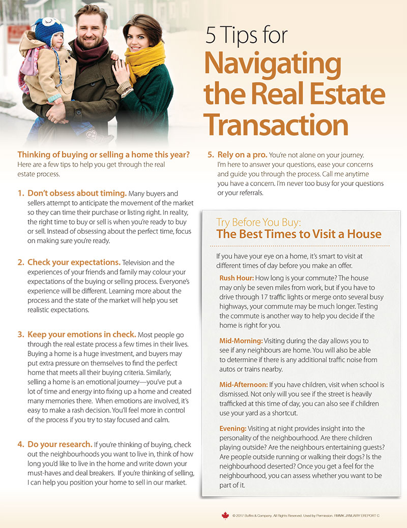5 Tips for Navigating the Real Estate Transaction