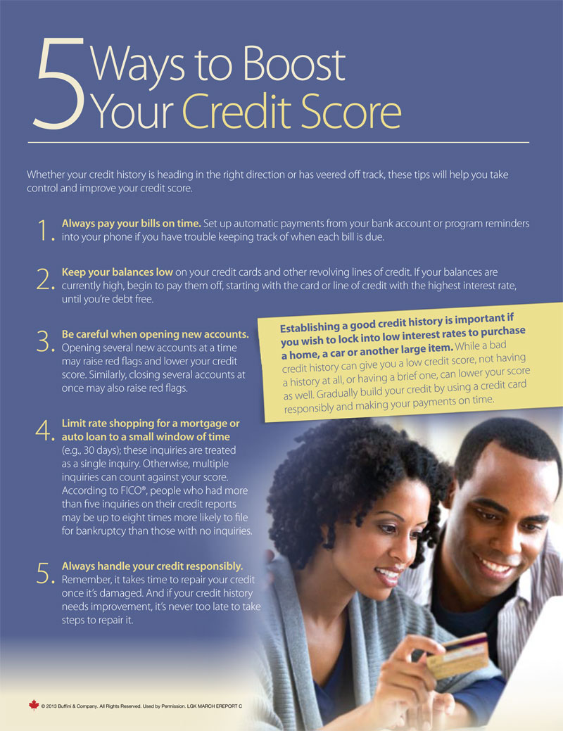 5 Ways To Boost Your Credit Score. Especially Important in Today's Marketplace.